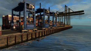 Containerterminal am Hafen